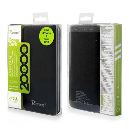POWER BANK POWERBANK 20000mAh LI-ION Reverse PBR-290  czarny